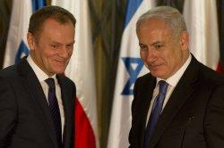 Israeli Prime Minister Benjamin Netanyahu and Prime Minister of Poland Donald Tusk in Jerusalem