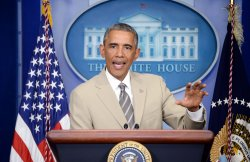 President Obama speaks on the situation in Ukraine in Washington, D.C.