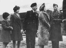 Royal Family of King George VI goes sightseeing in coastal town