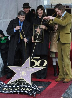 Anjelica Huston receives star on Hollywood Walk of Fame in Los Angeles