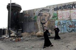 Mural Of Palestinian Leader Yasser Arafat, Qalandia Checkpoint