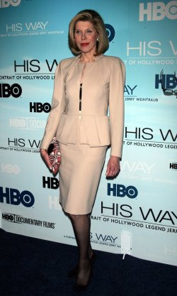 "Christine Baranski arrives for the ""His Way"" Premiere in New York"