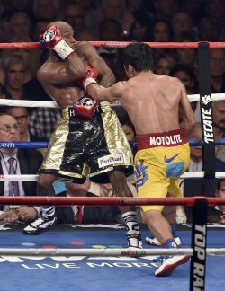 Floyd Mayweather and Manny Paciquiao Welterweight Fight in Las Vegas.
