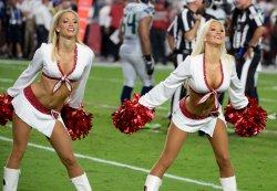 Cardinals' cheerleaders perform