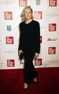 Glenn Close arrives for the Film Society of Lincoln Center's 39th Annual Chaplin Awards Gala in New York