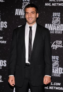 Patrice Bergeron arrives at the 2012 NHL Awards in Las Vegas