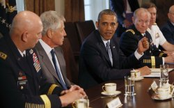 President Barack Obama discusses sexual assualt in the military in Washington
