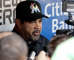 Miami Marlins manager Ozzie Guillen at Citizens Bank Park in Philadelphia