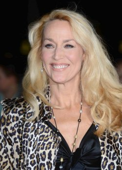 "Jerry Hall attends ""Crossfire Hurricane"" premiere in London."