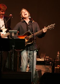 Jackson Browne performs at the Theatre Within's 30th Annual John Lennon Tribute in New York