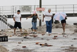 Hurrican Irene causes damage along the Jersey Shore