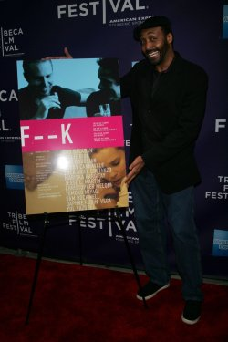 "Jesse L. Martin arrives for the premiere of ""F _ _ K"" at the Tribeca Film Festival in New York"