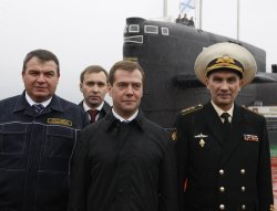 Russian President visits a nuclear powered submarine on the Kamchatka Peninsula