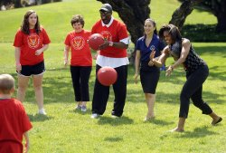 Michelle Obama hosts military families at fitness event in Washington