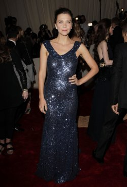 Maggie Gyllenhaal arrives at the Costume Institute Gala Benefit in New York