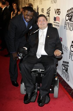 Michael Irvin and Marc Buoniconti at the Buoniconti Fund Dinner to Cure Paralysis at the Waldorf Astoria in New York
