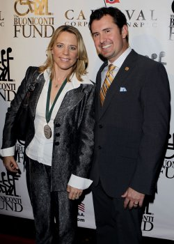 Annika Sorenstam and husband Mike McGee at the Buoniconti Fund Dinner to Cure Paralysis at the Waldorf Astoria in New York
