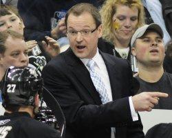Penguins Head Coach Dan Bylmsa in Pittsburgh
