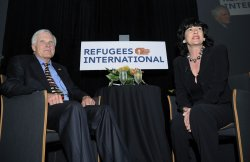 Ted Turner honored at Refugees International dinner in Washington