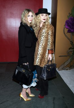 Mary Kate and Ashley Olsen arrive for the Museum of Modern Art Film Benefit Tribute to Tim Burton in New York