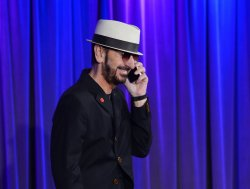 """Ringo Starr speaks with media about """"Ringo: Peace & Love"""" exhibit at Grammy Museum in Los Angeles"""