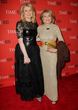 Arianna Huffington and Barbara Walters attend the TIME 100 Gala in New York