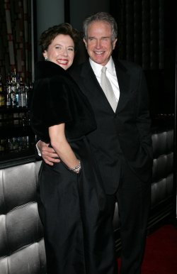 Annette Bening and Warren Beatty arrive for the New York Film Critics Circle Awards in New York
