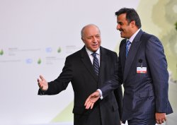 Tamim bin Hamad Al-Thani Arrives at Opening of UN Climate Summit Near Paris
