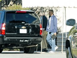 Obama Departs for Sasha's Basketball Game in Washington