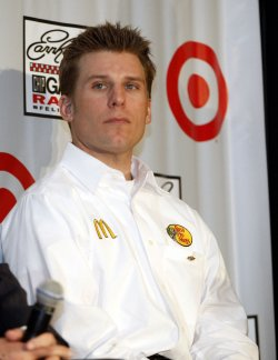Jamie McMurray at NASCAR media tour event in Charlotte, North Carolina
