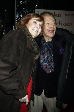 "Anne Meara and Jerry Stiller arrive for the Premiere of ""Little Fockers"" at the Ziegfeld Theater in New York"