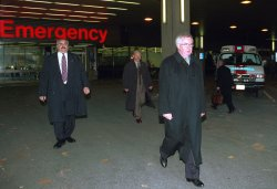 PC leader Joe Clark visits Vancouver General Hospital