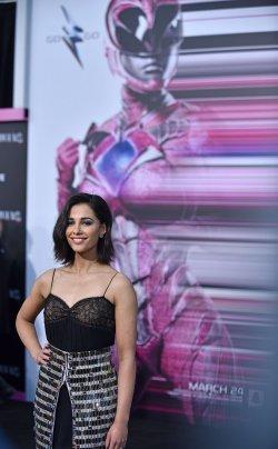 Naomi Scott attends the 'Power Rangers' premiere in Los Angeles