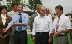 RUSSIAN PRESIDENT PUTIN VISITS AN AGRICULTURAL EXHIBITION