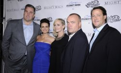 "Vince Curran, Tim Chambers, Carla Gugino, Marley Shelton and Sean Wolfington attend the premiere of ""The Mighty Macs"" in Los Angeles"