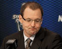 Pens Coach Bylsma Following Tampa Bay Win of Playoffs Series in Pittsburgh