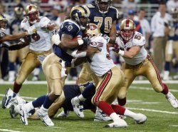 SAN FRANCISCO 49ER'S VS ST. LOUIS RAMS FOOTBALL