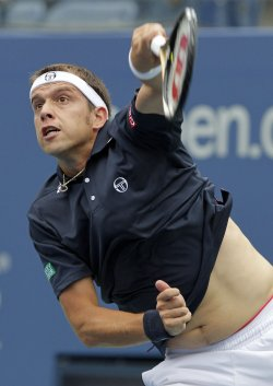 Gilles Muller at the U.S. Open Tennis Championships in New York