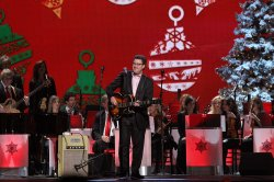 Vince Gill performs at the 2011 CMA Country Christmas special in Nashville