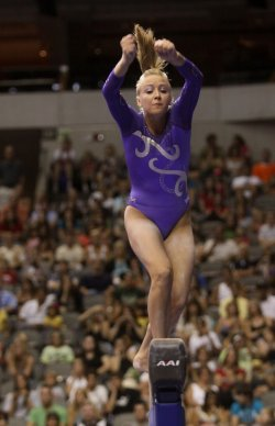 Nastia Liukin participates in the Visa Championship in Dallas