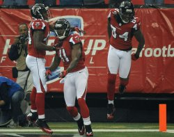 The Atlanta Falcons play the San Francisco 49ers for the NFC Championship in Atlanta