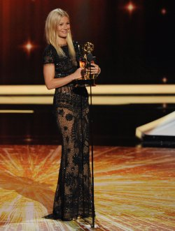 Gwyneth Paltrow presents an award at the 63rd nnual Primetime Emmy Awards in Los Angeles