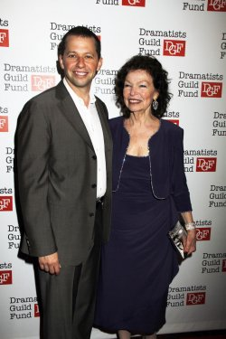Joh Cryer and mom Gretchen arrive for the Dramatists Guild Fund's 50th Anniversary Gala in New York