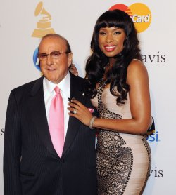 Clive Davis and Jennifer Hudson arrive at pre-Grammy gala honoring David Geffen in Beverly Hills, California