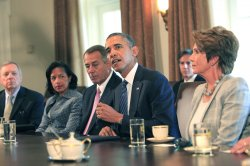 Obama Meets with Congressional Leaders at White House
