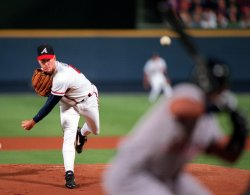 Atlanta Braves vs San Diego Padres; two of the League Championship Playoffs