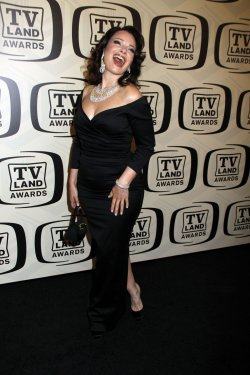Fran Drescher arrives for the TV Land Awards in New York