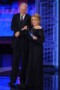 John Lithgow and Ann Margret present an award at the 62nd annual Primetime Emmy Awards in Los Angeles