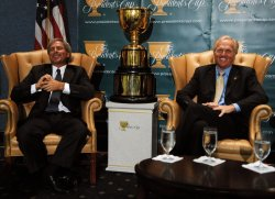 President's Cup team captains speak at news conference in Washington