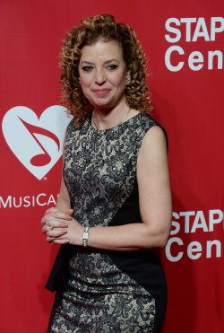 Debbie Wasserman Shultz attends the MusiCares Person of the Year gala in Los Angeles